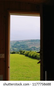 View from a glamping pod