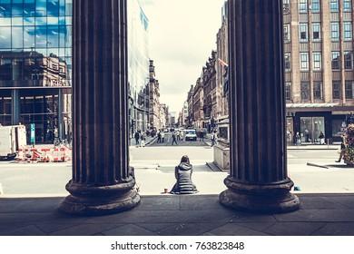 View of Glasgow from Gallery of Modern Art, Glasgow, Scotland, 01.08.2017