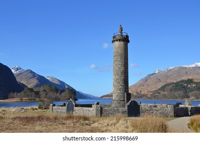 view of the Glenfinnan Monument in Scotland