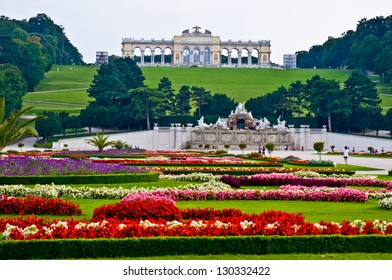 view of the Gloriette of the park Schoenbrunn in Vienna