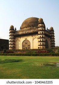 The view of Gol Gumbaz which is the mausoleum of king Mohammed Adil Shah, Sultan of Bijapur. The tomb, located in Bijapur (Vijayapura), Karnataka in India.