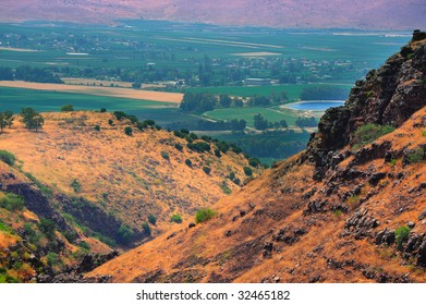 View From Golan Height, Israel, To Jordan Valley