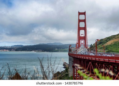 View of Golden Gate Bridge from the northern side of the bridge