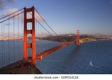 View of the Golden Gate Bridge in San Francisco, California, USA