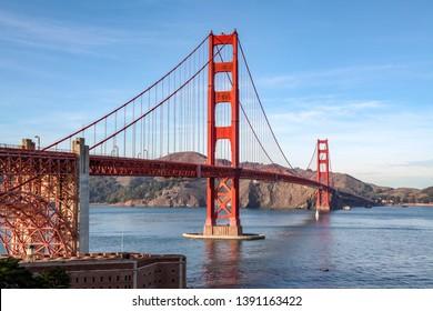 View of the Golden Gate Bridge . San Francisco, California, USA