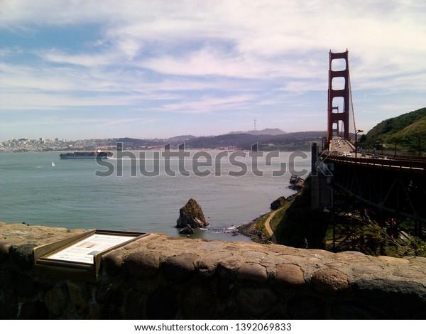 View from Golden Gate Bridge Vista Point
