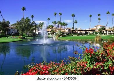 View of Golf Resort in Palm Springs California