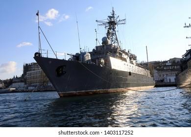 View of gorya-class minesweeper in bay of Sevastopol