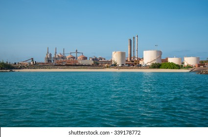 View of Gove Operations Bauxite Mine Alumina Refinery in Nhulunbuy, Arnhem land, Northern Territory of Australia.