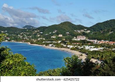 View of Grand Anse beach, Grenada Island, Caribbean Sea