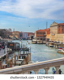 View of the Grand Canal, Beautiful ancient architecture.