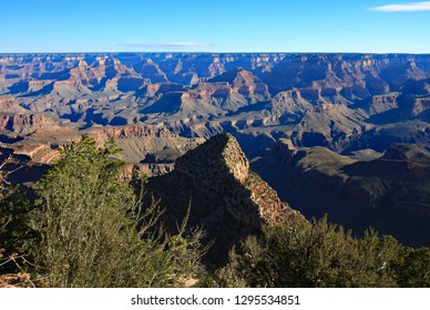 View of the Grand Canyon from the Grandview Trail in Grand Canyon National Park, Arizona.