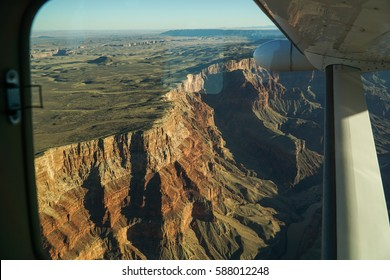 View of Grand Canyon from Private Airplane
