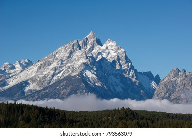 A view of Grand Teton in Grand Teton National Park