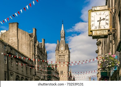 View of Granite city of Aberdeen in Scotland, UK