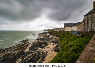 View of Granville from the Haute-Ville in stormy weather (Manche, Normandy)
