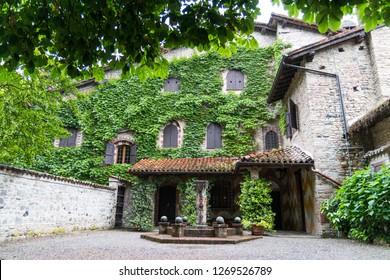 View of Grazzano Visconti, Piacenza, Emilia Romagna, Italy