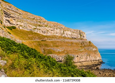 A view of the Great Orme headland, Llandudno, Wales in summertime