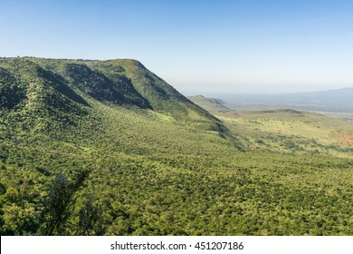 View of the Great Rift Valley from a viewpoint in Kenya