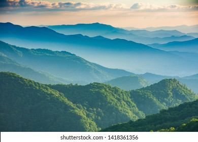 A view from the Great Smoky Mountains National Park