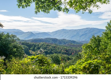 View of the Great Smoky Mountains near Gatlinburg - Great Smoky Mountains National Park, Tennessee, USA