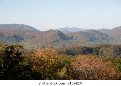 A view of the Great Smoky Mountains in Tennessee.
