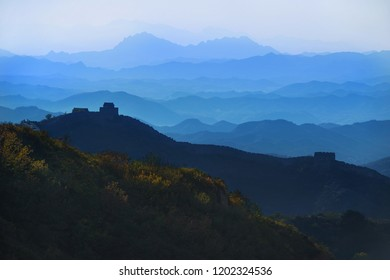 View of Great wall of China near Beijing