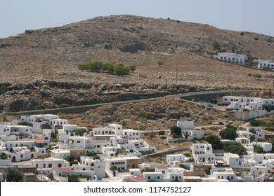 View of the Greek village of Lindos.