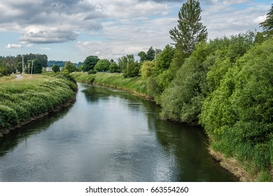 A view of the Green River in Kent, Washington.