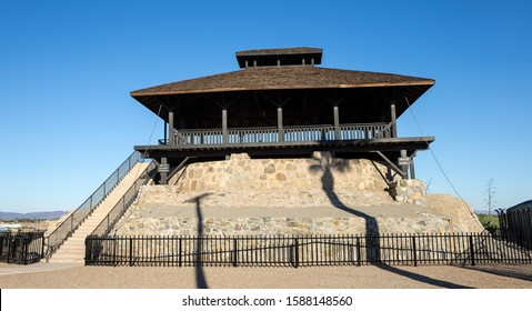 A view of the Guard Tower at Yuma Territorial Prison in Yuma, Arizona.