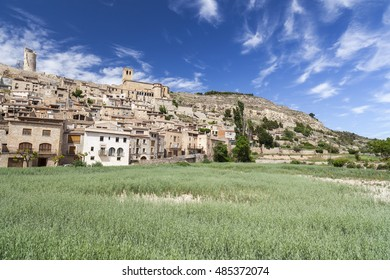 View of Guimera, medieval village in Lleida province, Catalonia, Spain.