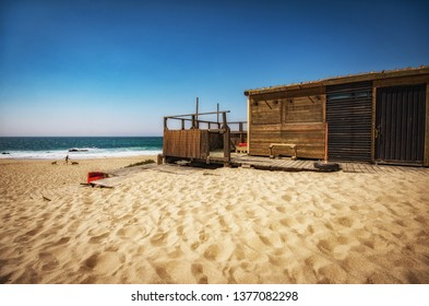 View of Guincho Beach in Cascais region in Portugal
