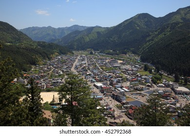 The View of Gujo Hachiman town from the castle, Gifu, Japan
