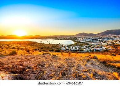 View of Gumbet, Bodrum, Turkey