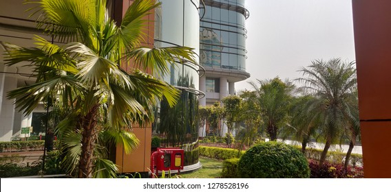 A view of Gurgaon Cyber City at DLF Phase III, Gurugran, India on 05 Jan 2019
