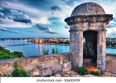 view of habana bay taken to the morro castle