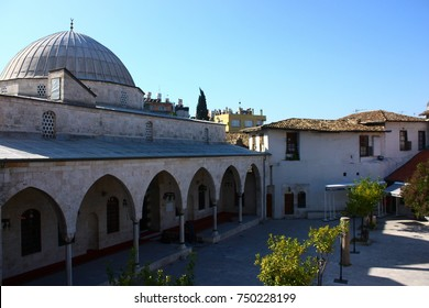 A view from Habib-i Neccar Mosque and its courtyard in old Antakya, Turkey.