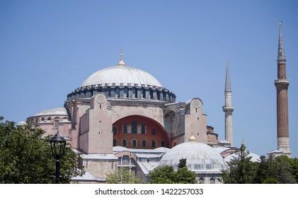 View Of Hagia Sophia (Ayasofya) Museum On A Sunny Day