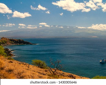 View to the  Haleakala's volcanic crater in Maui, Hawaii, United States.