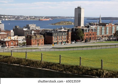A view of the Halifax harbor from the Citadel.