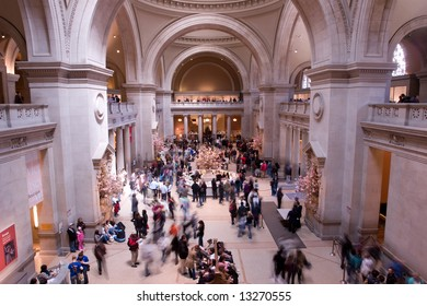 View of the hall of Metropolitan Museum in New York