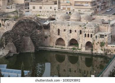 View to Hama town Syria