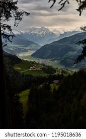 View from Hamberg in Zillertal, Austria