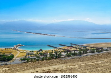 View of the Hamei Zohar resort, on the southern coast of the Dead Sea, Southern Israel