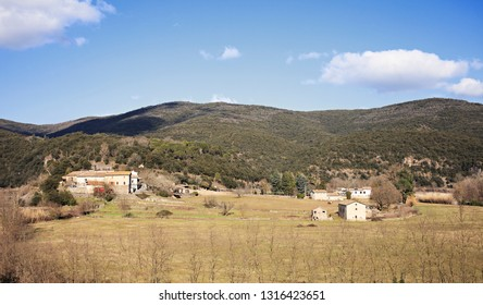 view of a hamlet in the south of france