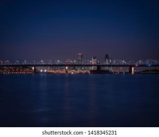 view of Hangang river at night