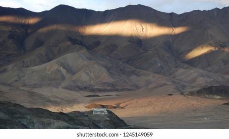 view of Hanle Monastery from Hanle Space Observatory