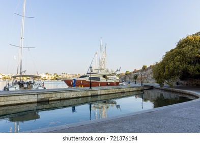 View to the harbor of Kos island, Dodecanese, Greece