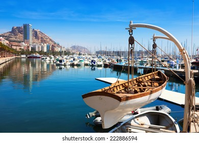 View of harbour with yachts in Alicante