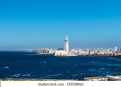 View of the Hassan II Mosque. Casablanca, Morocco.